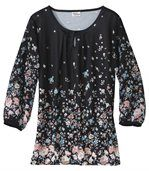 Women's Long Blouse with Floral Motif preview1