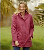 Women's Pink Microtech Parka preview1