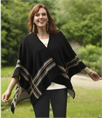 Cape mit Jacquard-Muster preview1