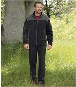 Men's Black Ultra-Comfortable Tracksuit - Fleece preview1