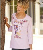 Women's Purple Top with Doe Print preview1