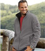 Pack of 2 Men's Microfleece Jackets - Navy Taupe