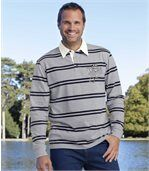 Gestreiftes Poloshirt aus Jersey preview1