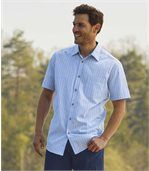 Men's Checked Blue Summer Shirt preview1