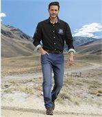 Jeans Délavé Blue