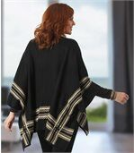 Cape mit Jacquard-Muster preview2