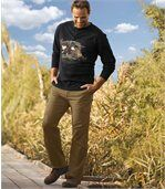 Men's Camel All-Terrain Cargo Trousers - Canvas preview2