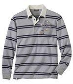 Gestreiftes Poloshirt aus Jersey preview2