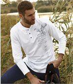 T-shirt North Explorer z dekoltem zapinanym na guziki preview1