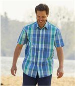 Men's Blue Island Checked Shirt preview1