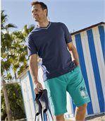 Men's Turquoise Beach Sport Swim Shorts