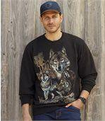 Men's Black Wild Territory Flannel Sweatshirt