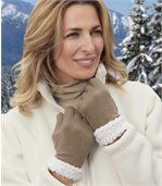 Handschoenen in fleecemet sherpaboord preview1