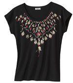 Tričko s motívmi vtáčích pier