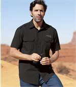Men's Striped Short Sleeve Shirt - Arizona Road