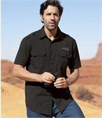 Proužkovaná letecká košile Arizona Road z gázoviny s mačkaným efektem preview1