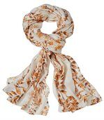 Women's Beige Patterned Headscarf