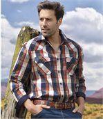 Trendy kockovaná košeľa preview1