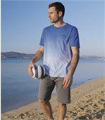 Pack of 2 Men's Denim Shorts - Blue Grey