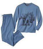 Schlafanzug Winter Bear aus Baumwolle