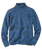 Měkký melírovaný pulovr s rolákem preview2