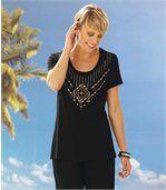 T-shirt met juwelenprint preview1