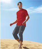 Antracitovosivé trojštvrťové nohavice preview3