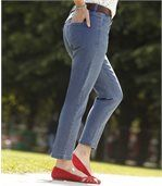 Women's Blue Comfort 7/8 Jeans - Denim preview1