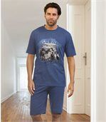 Men's Blue Wild Desert Short Pyjamas preview1
