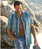 Kockovaná košeľa Ostrovy Stredomoria preview1