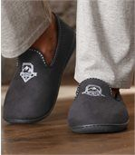 Men's Faux Suede Slippers with Fleece Lining preview2