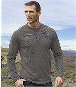 Pack of 2 Men's Terra Del Fuego T-Shirts - Navy Blue Tan preview2