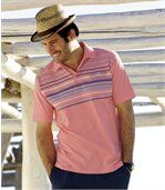 Pack of 2 Men's Jersey Polo Shirts - Navy Blue Pink  preview2