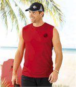 Set van 3 mouwloze 'Surf Paradise' T-shirts preview2