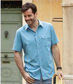 Kostkovaná košile Azur preview1