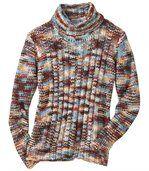 Barevný pletený svetr s rolákem preview2