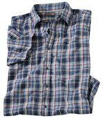 Kockovaná krepová košeľa