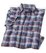 Kariertes Hemd aus Leinen und Baumwolle preview2