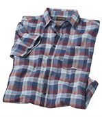 Men's Blue and Red Checked Shirt preview2