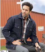 Kurtka jeansowa podszyta kożuszkiem sherpa preview2