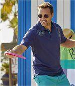 Men's Navy South Island Polo Shirt preview2