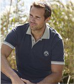 Pack of 2 Pairs of Men's Polo Shirts - Grey Navy Blue  preview2