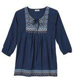 Women's Blue Bohemian Style Blouse preview2