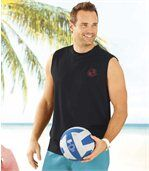 Set van 3 mouwloze 'Surf Paradise' T-shirts preview3