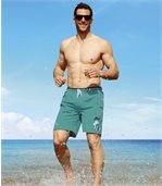 Men's Green California Beach Swim Shorts