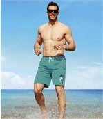 Short de Bain Homme Vert California Beach preview1