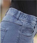 Women's Blue Comfort 7/8 Jeans - Denim preview3