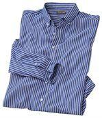 Modrá popelínová košeľa spruhmi preview3