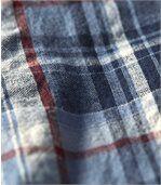 Kockovaná krepová košeľa preview3