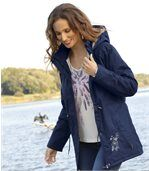 Women's Navy Blue Parka Coat preview1